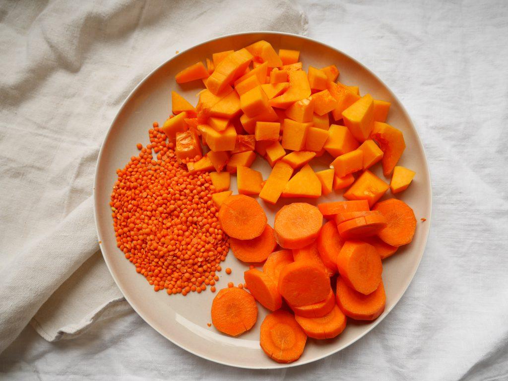 Orangenes Gemüse